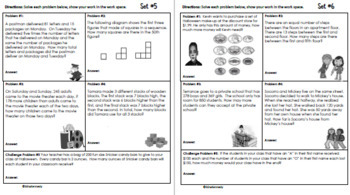 3rd Grade October Problem Solving: Daily Multi-Step(Two-Step) Math Problems