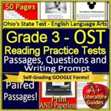 3rd Grade Ohio's State Test English Language Arts Practice OST 2019 Test Prep