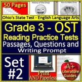 3rd Grade Ohio AIR Test Prep Practice Tests for ELA Print AND Paperless!