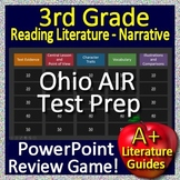 3rd Grade Ohio AIR Test Prep Reading Literature Review Game for Language Arts