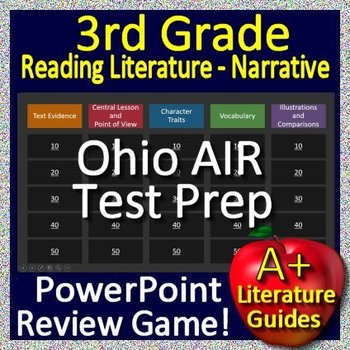 3rd Grade Ohio State Test Prep Reading Literature Game for OST ELA Ohio AIR