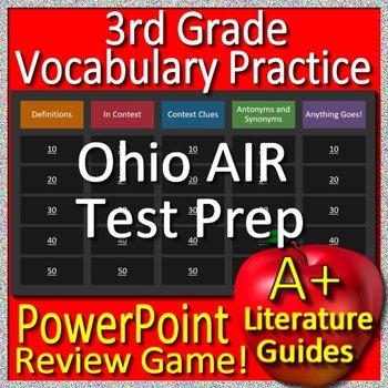 3rd Grade Ohio State Test Prep Reading Vocabulary Game OST ELA Ohio AIR
