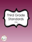 3rd Grade Ohio Standards