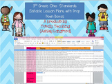 3rd Grade Ohio Standards Editable Lesson Plans with Drop Down Boxes
