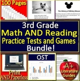 3rd Grade Ohio State Test Math AND Reading BUNDLE! Practice and Game Shows OST