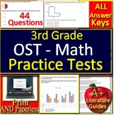 3rd Grade Ohio State Test Math Test Prep Practice OST Print and Paperless