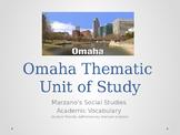 3rd Grade Omaha, Nebraska History Unit Vocabulary PPT