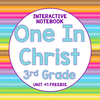 3rd Grade One in Christ Interactive Notebook Freebie
