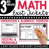 3rd Grade Operations & Algebraic Thinking Exit Tickets (Exit Slips) | + Digital