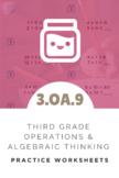 3rd Grade Operations & Algebraic Thinking Worksheet (3.OA.9)