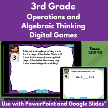 3rd Grade Operations and Algebraic Thinking Test Prep Powe
