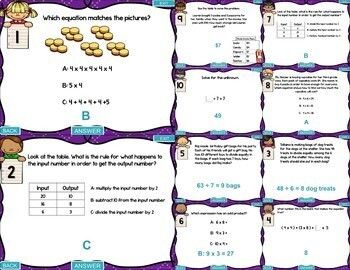3rd Grade Operations and Algebraic Thinking Test Prep PowerPoint Games