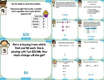 3rd Grade Operations and Algebraic Thinking Digital Games | Distance Learning
