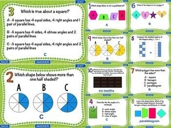 3rd Grade Geometry Test Prep Digital Games