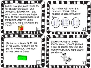 3rd Grade Operations and Algebraic Thinking Word Problems  3.OA.1-9