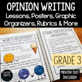 3rd Grade Opinion Piece Writing Unit {W.3.1.A, W.3.1.B}