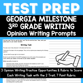 3rd grade writing prompts list