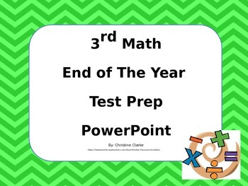 3rd Grade End of The Year Math Practice PowerPoint
