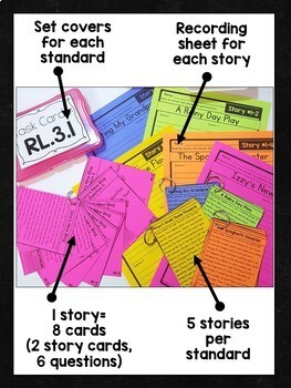 3rd Grade Comprehension Task Cards Bundle