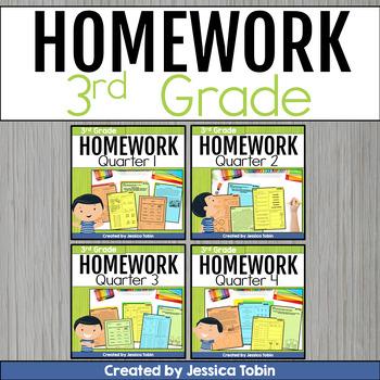 3rd Grade Homework Growing Bundle