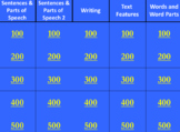 3rd Grade PSSA ELA Grammar and Writing terms Jeopardy Review