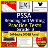 3rd Grade PSSA Test Prep Reading & Writing Printable & SELF-GRADING GOOGLE FORMS