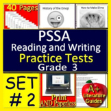 3rd Grade PSSA Test Prep Reading and Writing Practice Tests for Language Arts