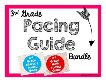 3rd Grade Pacing Guide Bundle