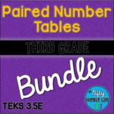 3rd Grade Paired Number Tables TEKS 3.5E BUNDLE