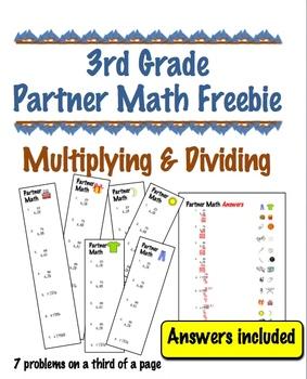 3rd Grade Partner Math FREEBIE - Cooperative Learning