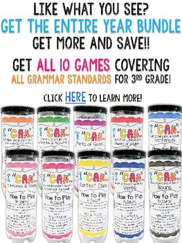 3rd Grade Parts of Speech Game FREE