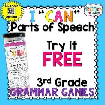 3rd Grade Parts of Speech Game FREE | I CAN Grammar Games