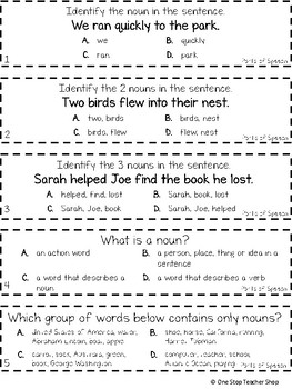 3rd Grade Parts Of S Ch Game Free I Can Grammar Games