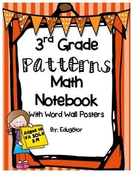 Patterns Math Notebook
