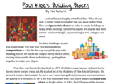 3rd Grade Paul Klee UNIT PLAN