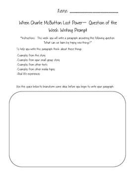 3rd Grade Pearson Reading Street Unit 1 Packet