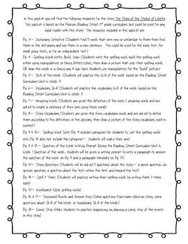 3rd Grade Pearson Reading Street Unit 6 Packet