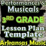 3rd Grade Performance/Musical Unit Lesson Plan Template Arkansas Music