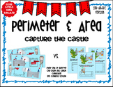 3rd Grade  Perimeter & Area Task Card Game by Marvel Math  TEKS 3.6C