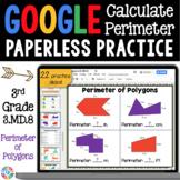 3rd Grade Perimeter & Perimeter Missing Side {3.MD.8} Google Classroom