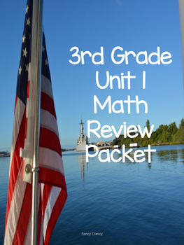 3rd Grade Person based  Unit 1 Review Packet