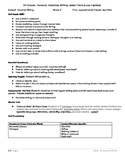 3rd Grade Personal Narrative Writing Plans (Lucy Calkins i