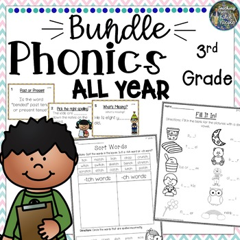 All Year 3rd Grade Phonics Bundle