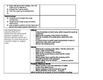 3rd Grade Phonics Word Study Scope and Sequence