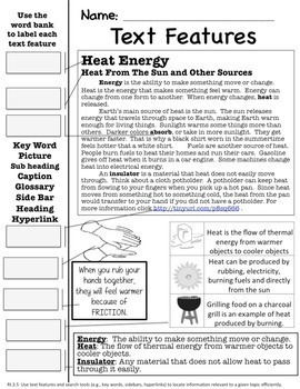 3rd Grade Physical Science Thermal Energy and Heat-3 Week Unit