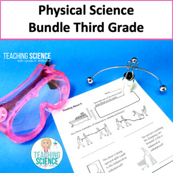 3rd Grade Physical Science Complete Unit NGSS 3-PS2-1-4 Save $5