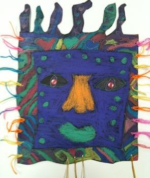 3rd Grade Picasso inspired Masks