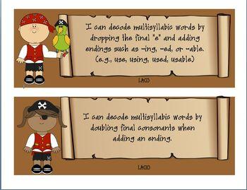 3rd Grade Pirate Themed ELAR TEKS Statememts