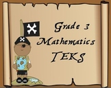 """3rd Grade Pirate Themed Math TEKS """"I Can"""" Statement Posters"""
