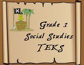 3rd Grade Pirate Themed Social Studies TEKS statements